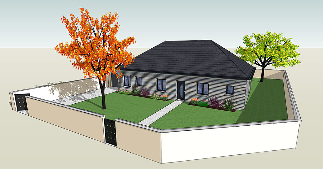 deuxieme projet id remo With surface d une maison 5 deuxiame projet id remo
